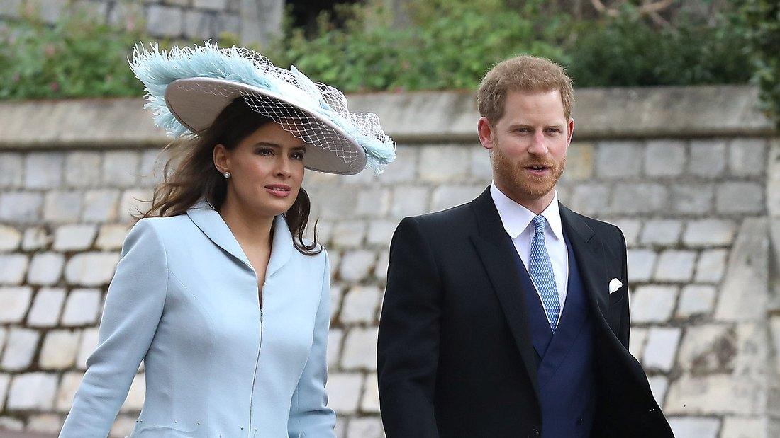 Neu-Papa Harry: Ohe Meghan auf Royals-Hochzeit