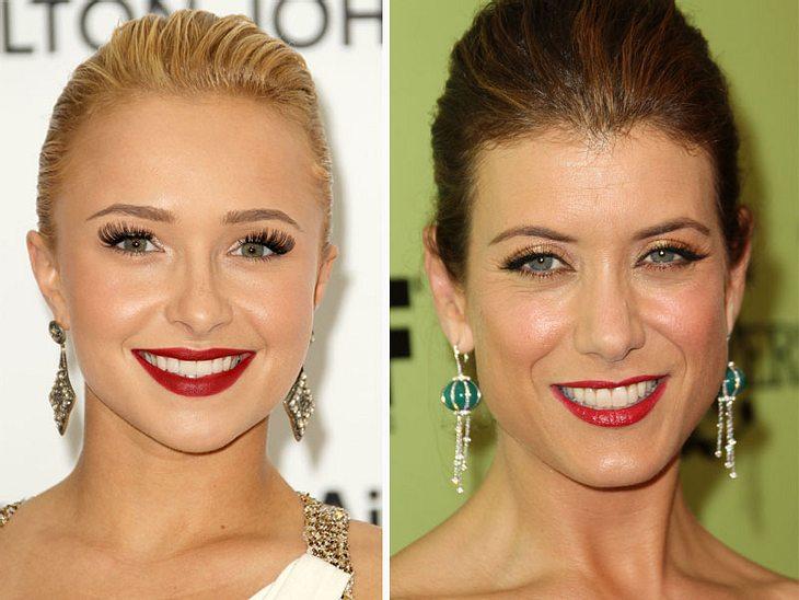 ,Jetzt knallt's! Die Beauty-Trends der StarsZum Knutschen: Auf Knallrot setzen  Hayden Panettiere und  Kate Walsh.