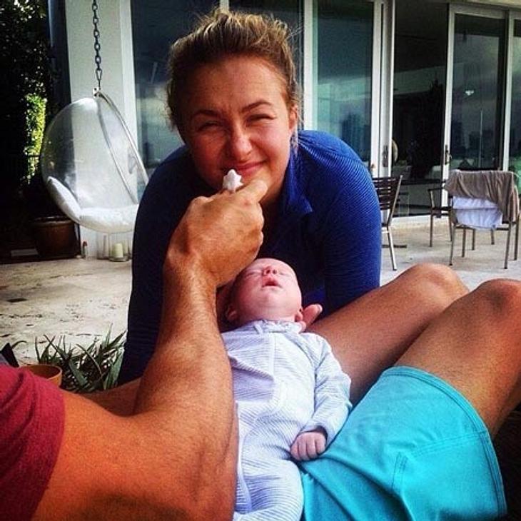 Hayden Panettiere und Wladimir Klitschko mit Baby Kaya
