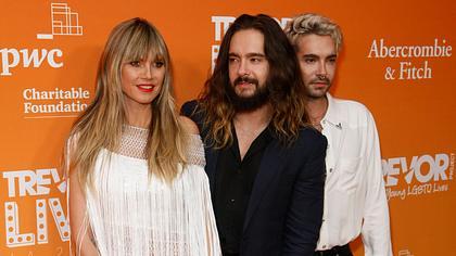 Heidi Klum mit Tom und Bill Kaulitz - Foto: imago images / MediaPunch