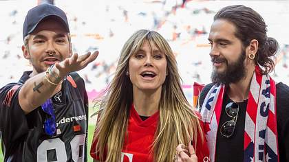 Heidi Klum, Bill und Tom Kaulitz - Foto: imago