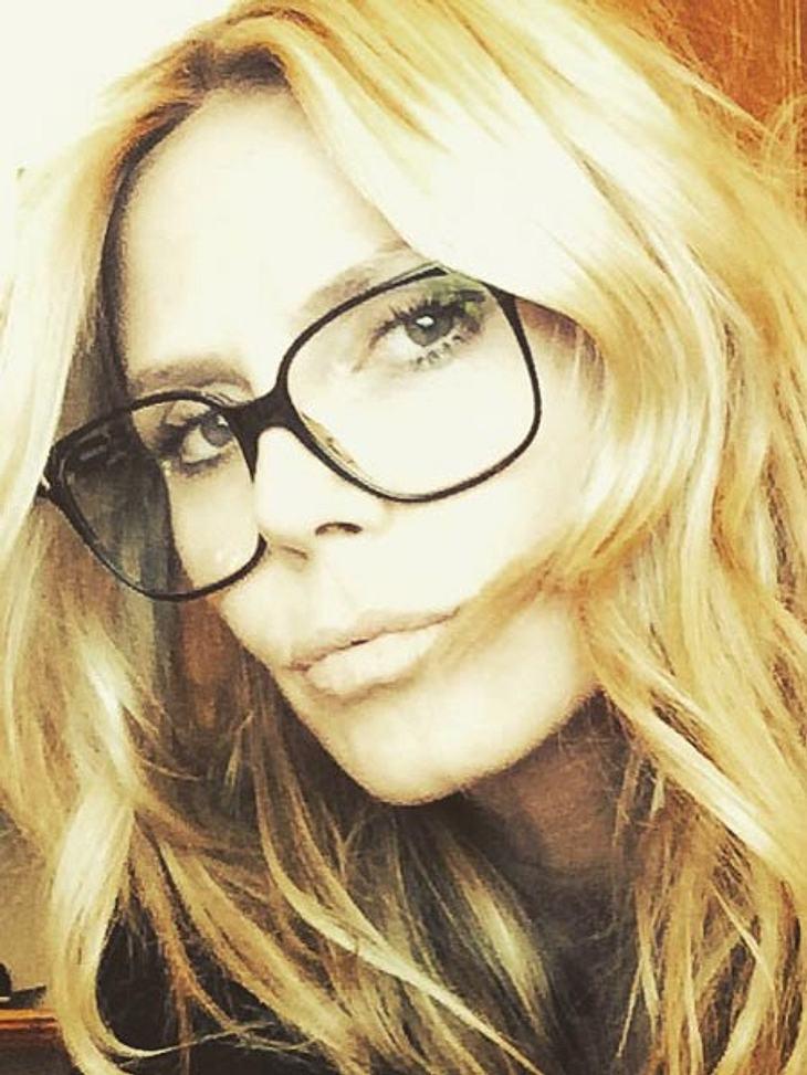 Heidi Klum trägt jetzt Brille