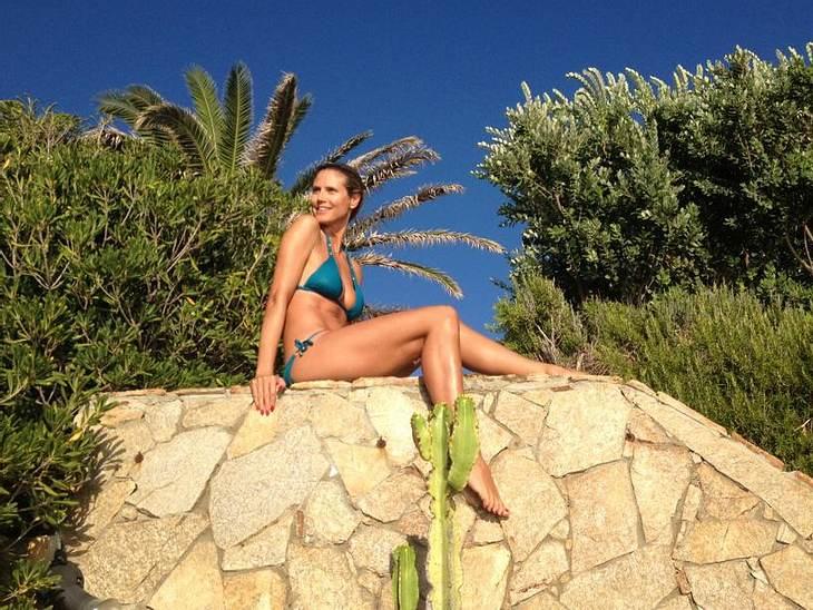 Heidi Klum relaxt auf Sardinien