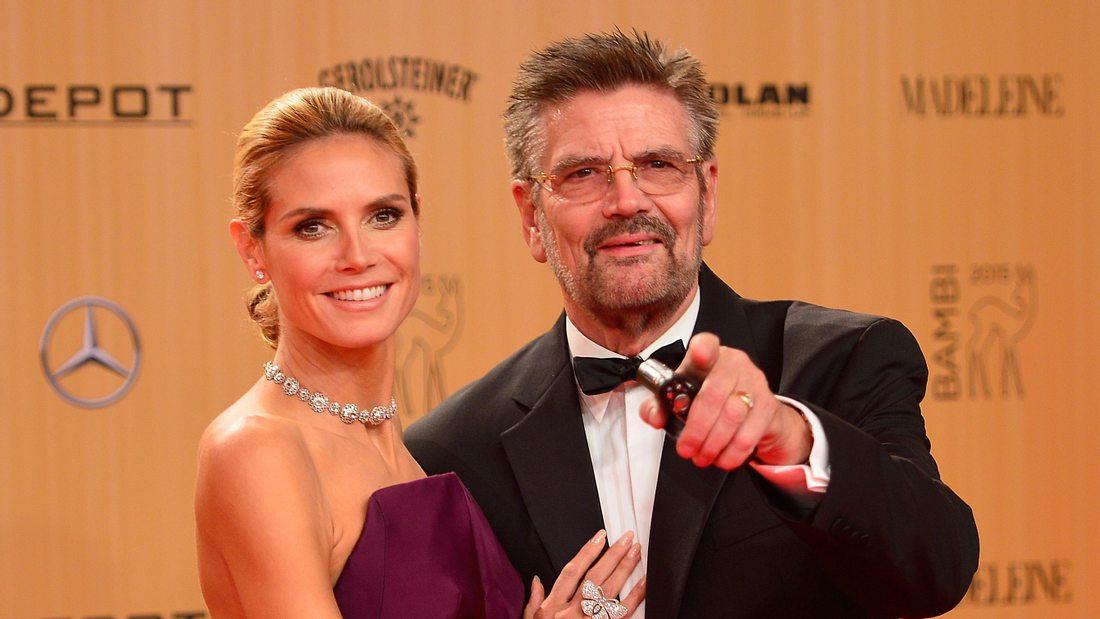 Heidi Klum und Vater Günther