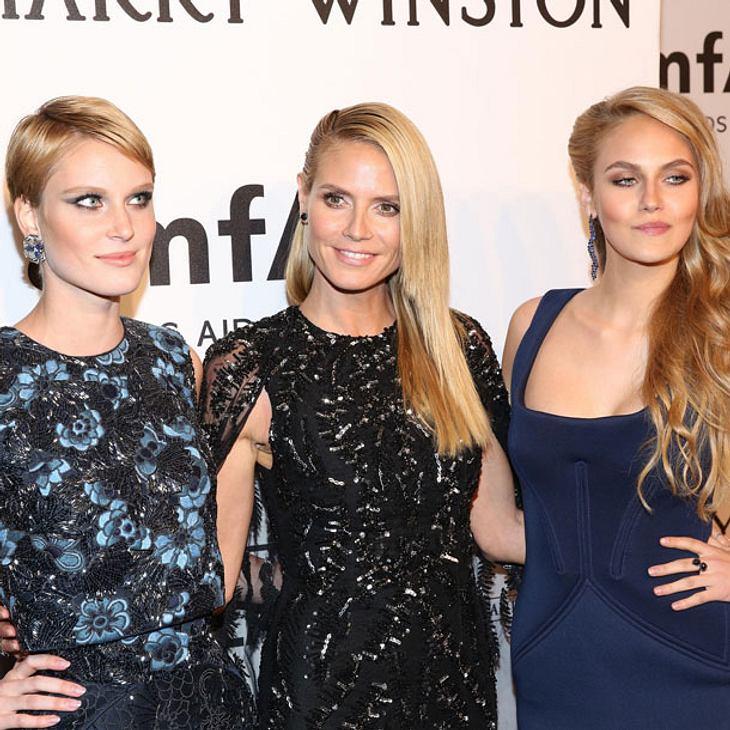 Heidi Klum mit Kim und Elena bei der amfAR Gala