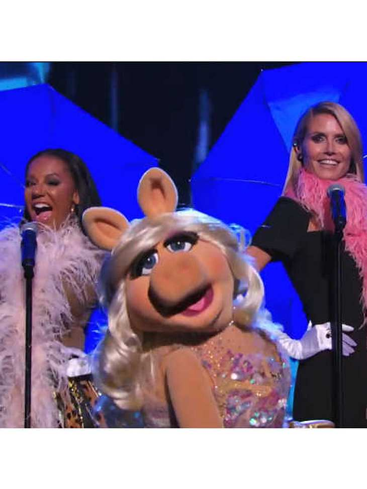 Mel B, Miss Piggy und Heidi Klum als Girlband.
