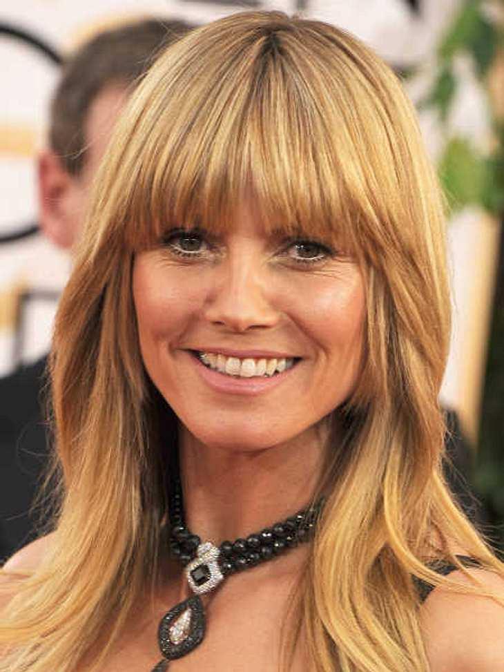 Heidi Klum zeigte sich natürlich bei den Golden Globes.