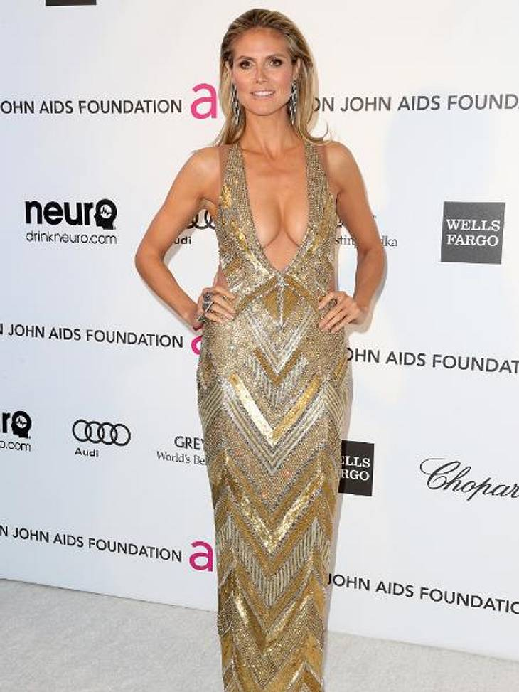 Heidi Klum kam mit Mega-Ausschnitt zur Oscar-Party