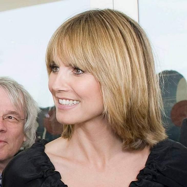 Heidi Klum mit neuer, biederer Frisur