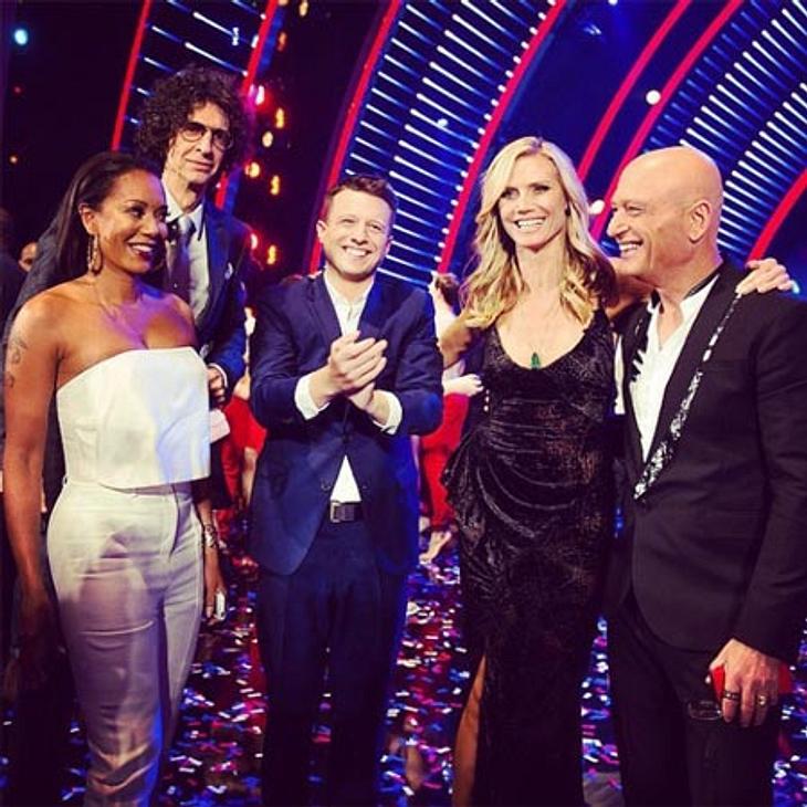 """Heidi Klum mit dem Sieger und der Jury von """"America's Got Talent"""""""
