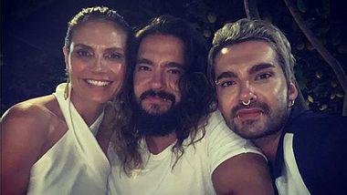 Heidi Klum mit Tom und Bill Kaulitz - Foto: Instagram/ heidiklum