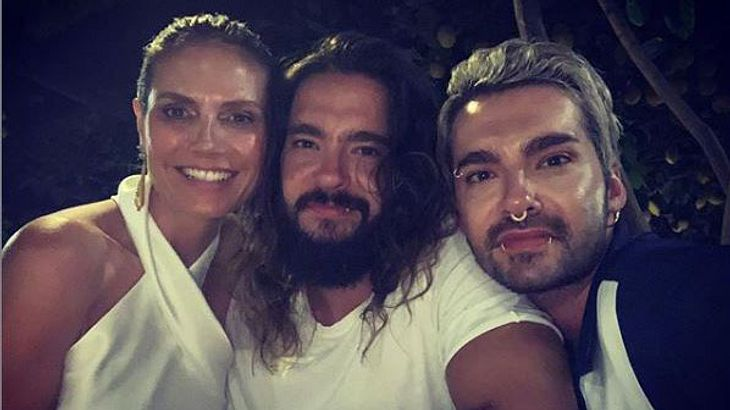Heidi Klum mit Tom und Bill Kaulitz