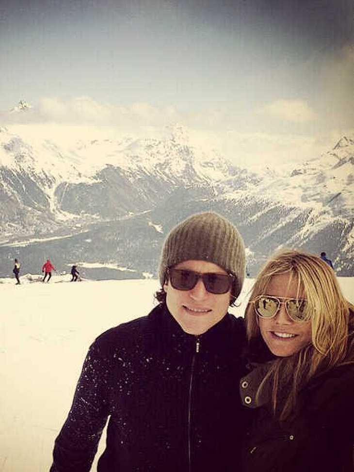 Liebes-Selfie im Schnee.