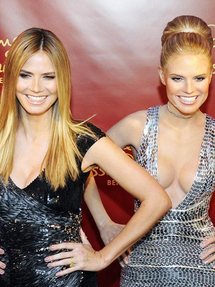 Stars bei Madame Tussauds: Die Pose: sitzt wie angegossen. Das Lächeln: ebenfalls. Mag daran liegen, dass eine dieser beiden Heidis tatsächlich gegossen wurde. Und zwar aus Wachs! Am 25. Januar 2010 wurde die Figur von Heidi Klum im Berline
