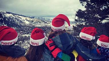 Heidi Klum feiert Weihnachten im Schnee
