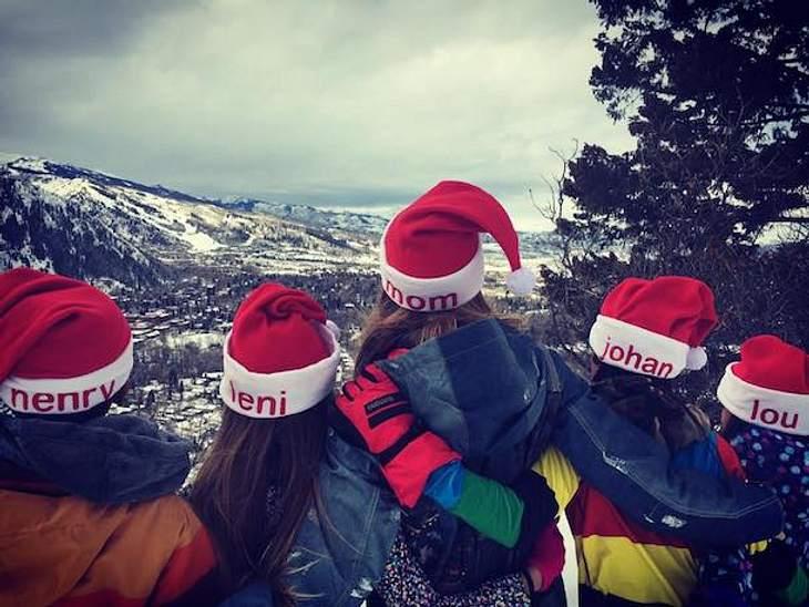 Süße Familienfotos: Heidi Klum feiert Weihnachten im Schnee