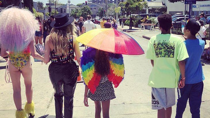 Coole Mama: Heidi Klum feiert mit ihren Kindern Pride-Monat