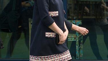 Herzogin Kate hat mittlerweile einen kugelrunden Bauch - Foto: GettyImages