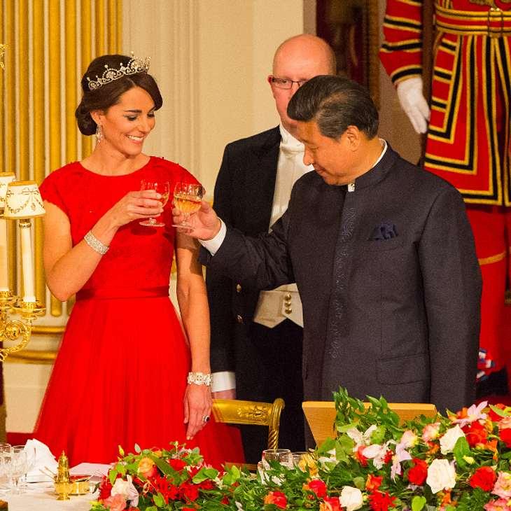 Herzogin Kate bei ihrem ersten Staatsbankett