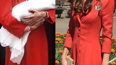 Lady Diana trug nach der Geburt von Prinz Harry ein rostrotes Kleid - Foto: GettyImages