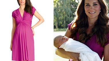 Dieses Kleid trug Herzogin Kate auf dem Baby-Foto - Foto: GettyImages /seraphine.com