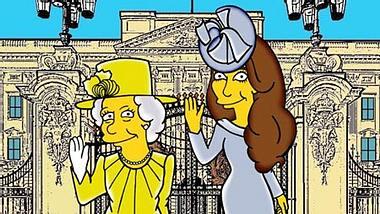 Herzogin Kate und die Queen als Simpsons-Figuren - Foto: Facebook/Alexsandro Palombo