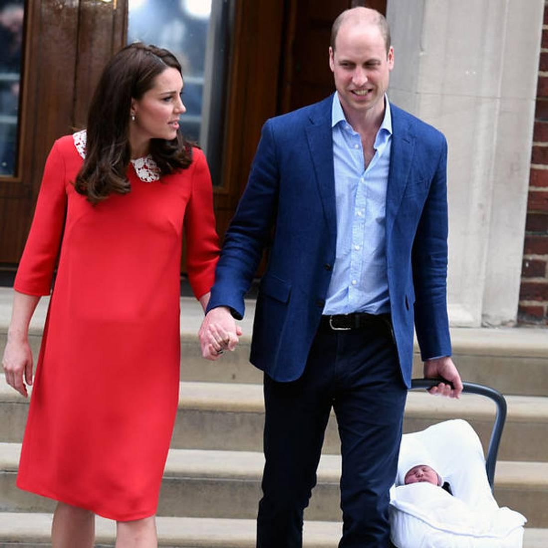 Herzogin Kate und Prinz William haben Angst um ihr Kind
