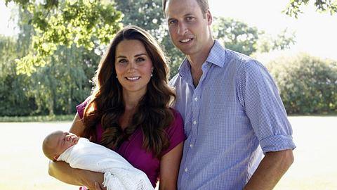 Kate und William mit ihrem Sohn George - Foto: GettyImages