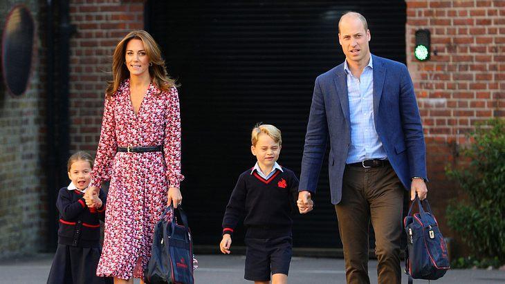 Prinzessin Charlotte, Herzogin Kate, Prinz George und Prinz William