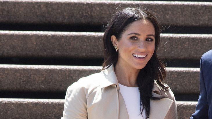 Herzogin Meghan: So stolz zeigt sie in Australien ihren Baby-Bauch!