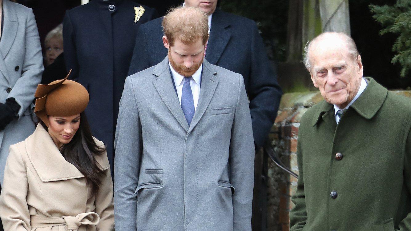 Herzogin Meghan, Prinz Harry, Prinz Philip