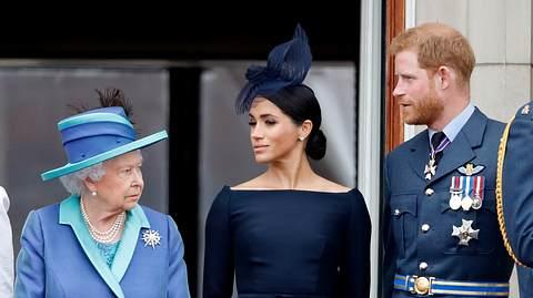 Queen Elizabeth, Herzogin Meghan, Prinz Harry
