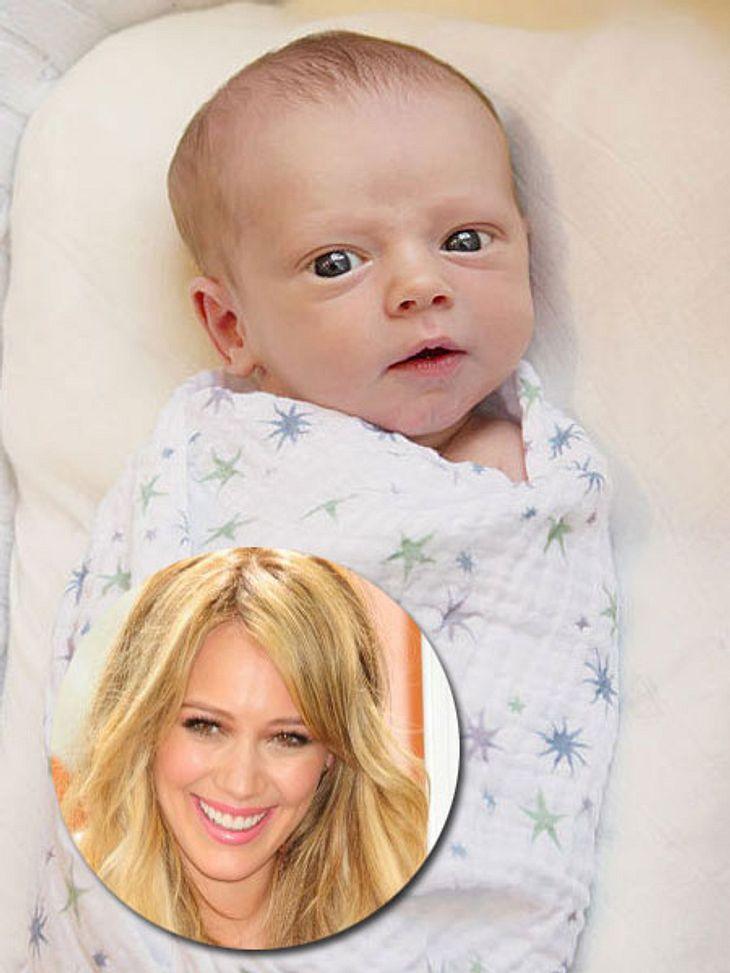 Mein erster Muttertag: Stars im Mama-GlückHilary Duff  (24) ist so stolz auf Söhnchen Luca, dass sie entgegen allen Vorsätzen dieses Foto twitterte. Am 20. März 2012 macht Luca Hilary zur jungen Mutti.