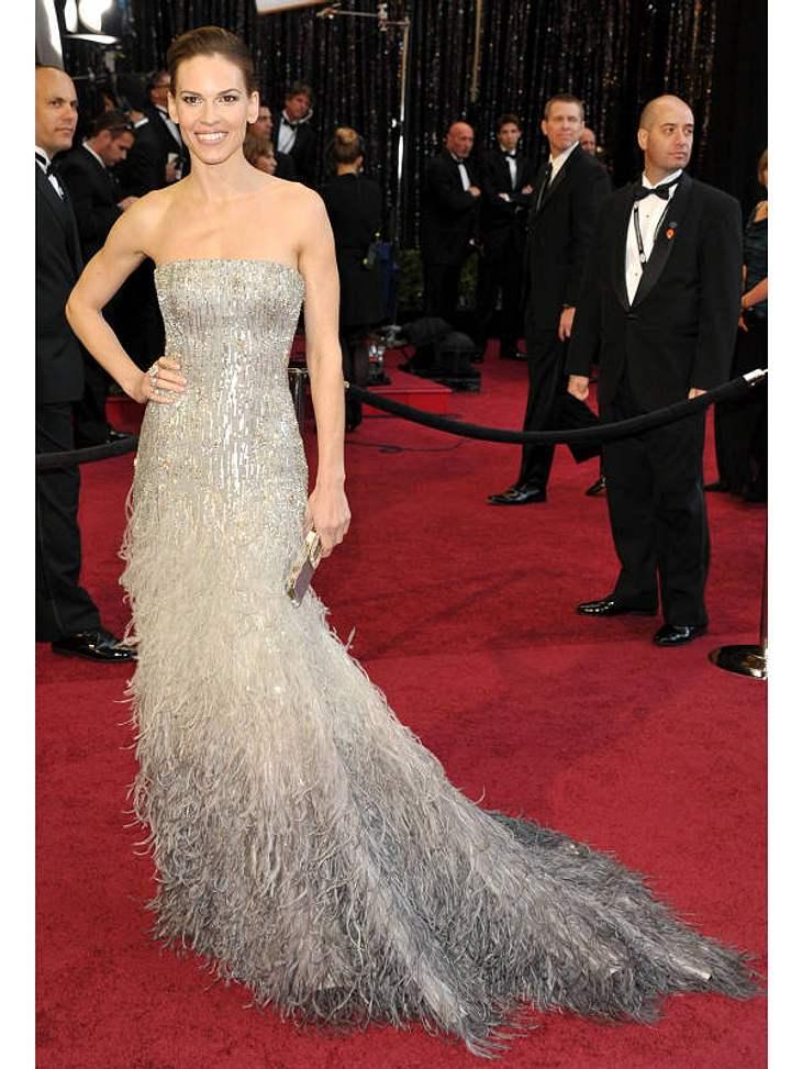 Oscar-Verleihung 2011: In einer der tollsten Roben präsentierte sich  Hilary Swank.