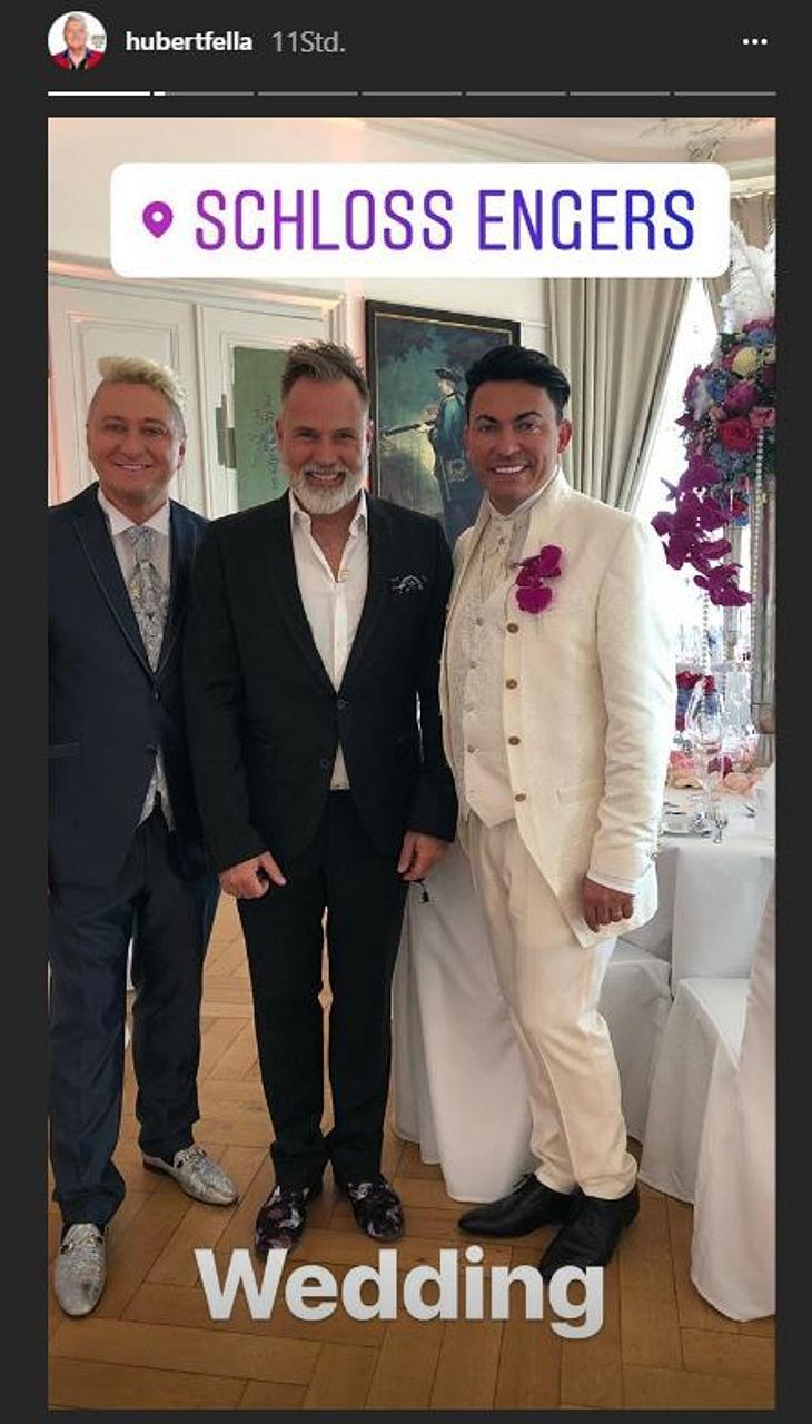 Matthias Mangiapane trug weiß bei der Hochzeit!