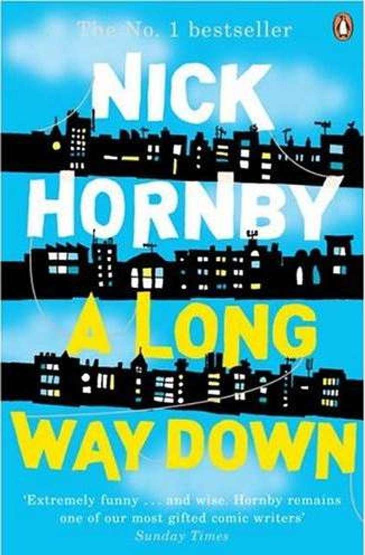 """""""A long way down"""" von Nick Hornby: Darum geht es in """"A long way down"""" von Nick Hornby:Ein berühmter Perversling, eine alte Jungfer, eine Teenagerin mit mysteriösen Familienverhältnissen und ein gealterter Rockstar  mehr"""
