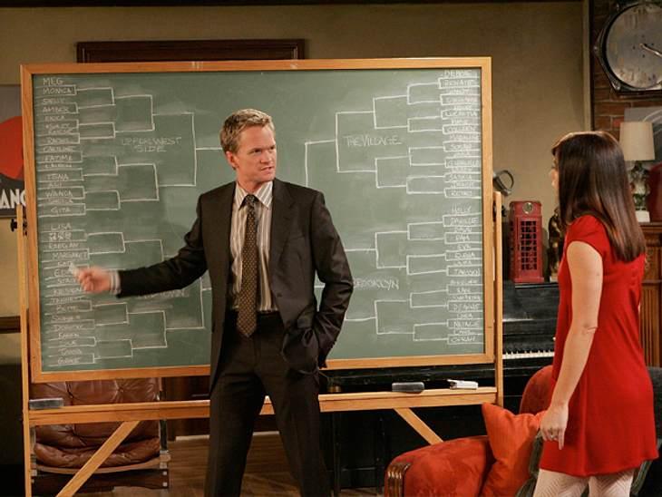 """How I Met Your Mother: Die coolste Clique im TV!,Barney: """"Oh Ted, sag mir nicht, du wirst jetzt nach """"der Einen"""" suchen. Hör mal, """"die Eine"""" darfst du nur sagen vor den Worten: ... noch dann sind es Hundert.""""(F"""