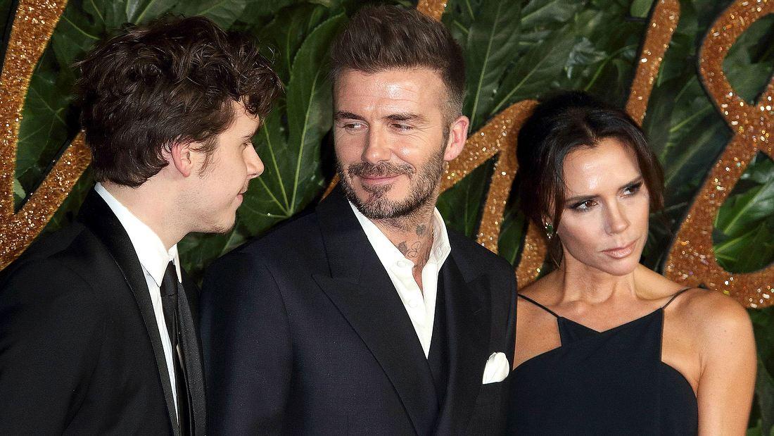 David und Victoria Beckham mit Sohn Brooklyn