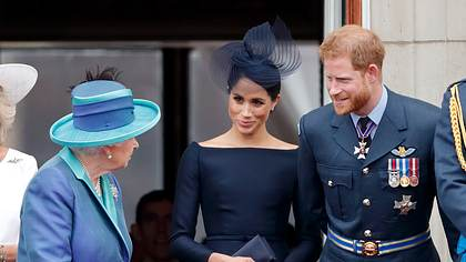Meghan, Harry und die Queen - Foto: Getty Images