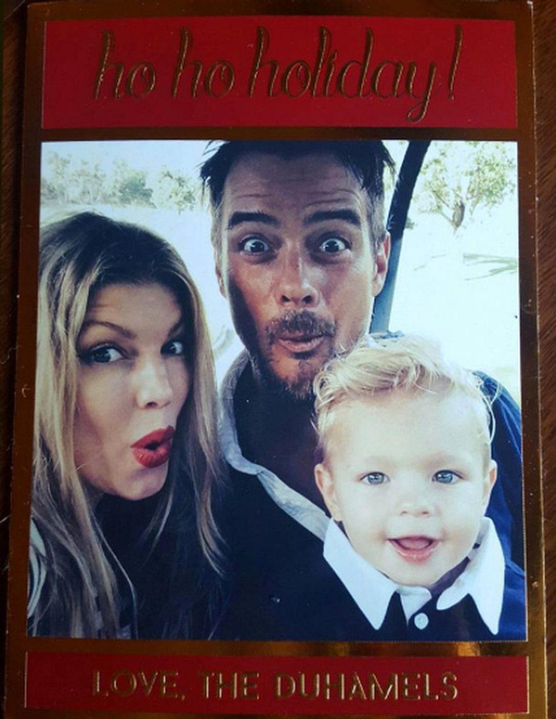 Diese süße Weihnachtskarte verschickten Fergie und Josh Duhamel letztes Weihnachten
