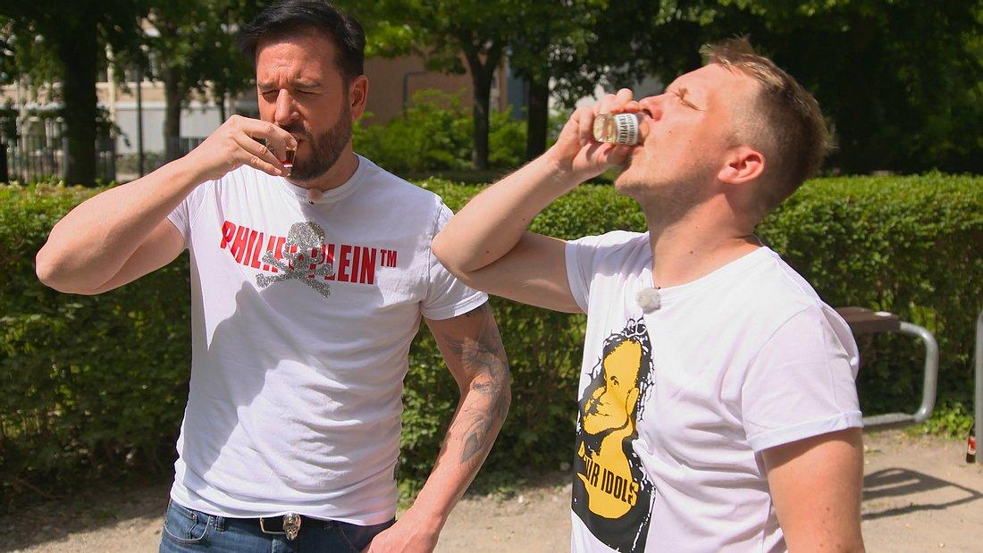 Michael Wenlder und Oliver Pocher