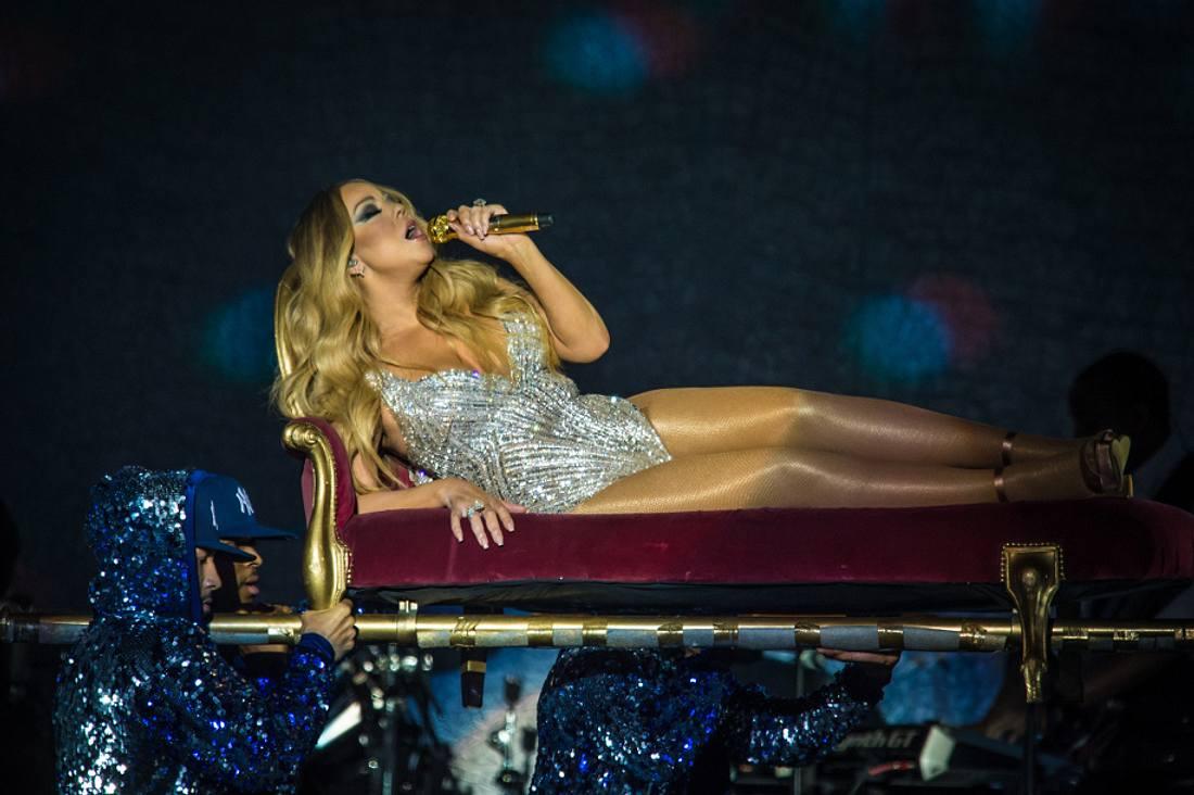 Mariah Carey während ihrer Show