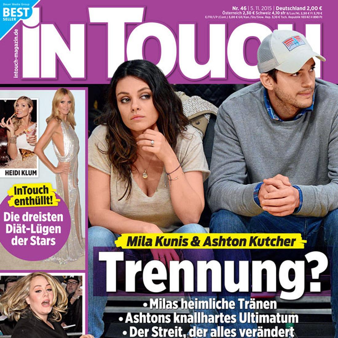 InTouch: Trennung bei Mila Kunis & Ashton Kutcher?
