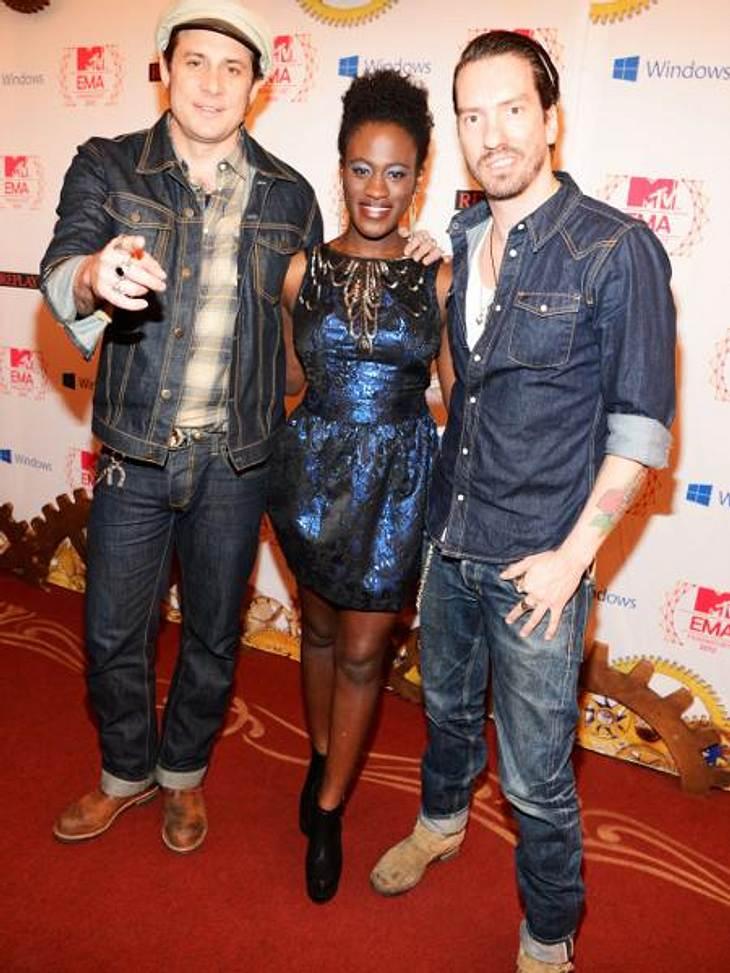 """MTV Europe Music Awards 2012 - Die HighlightsDie Jungs von """"The BossHoss"""" und """"The Voice""""-Gewinnerin Ivy Quainoo (20) hatten sich ebenfalls unter das illustre Publikum gemischt."""