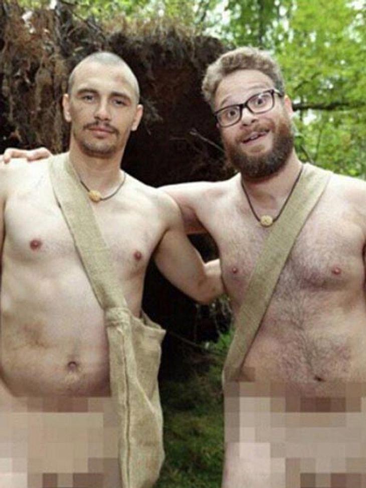 Männer nackt im Wald. Genau die Kragenweite der beiden Anarcho-Buddies