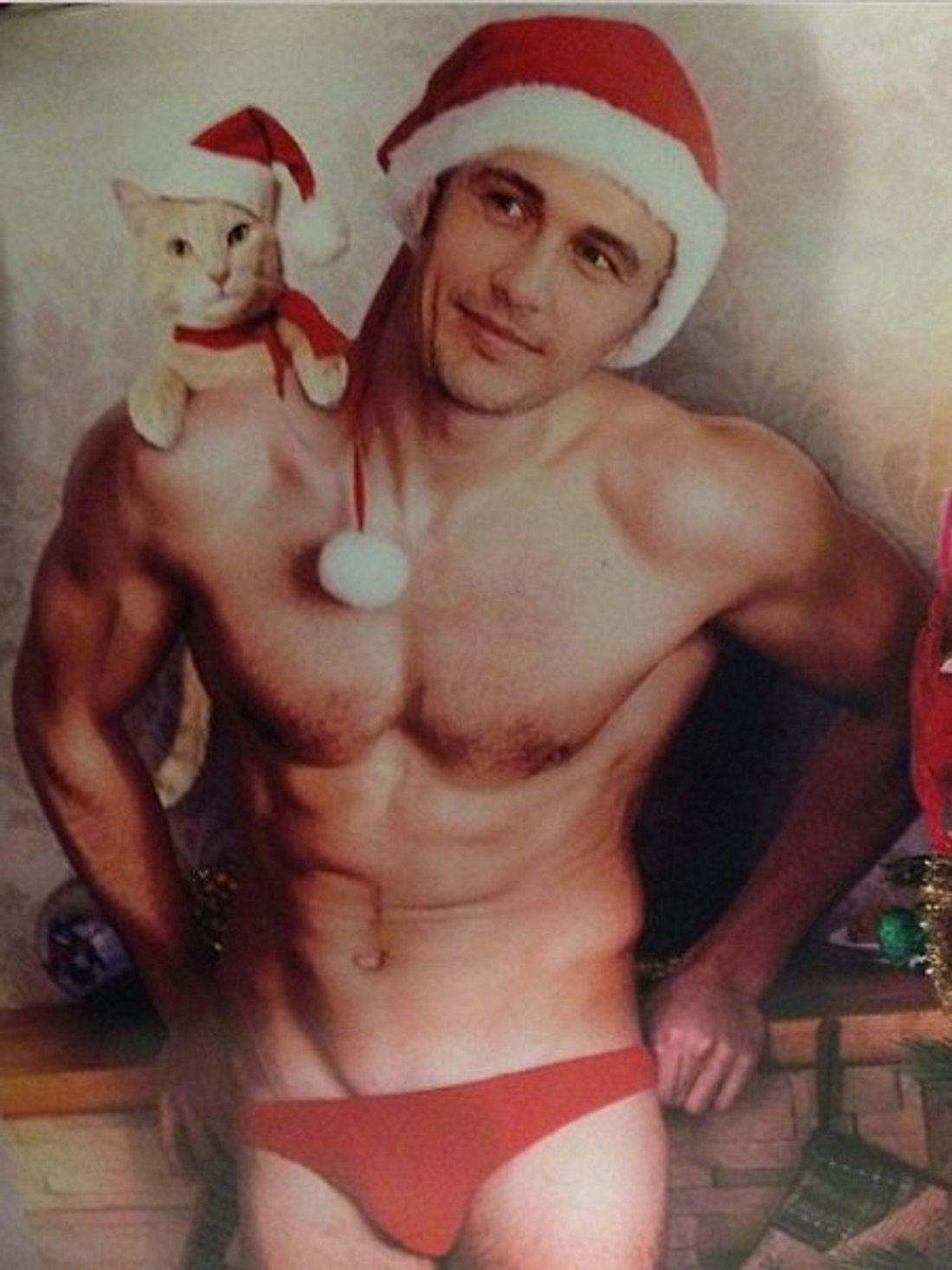 James Franco als sexy Weihnachtsmann!