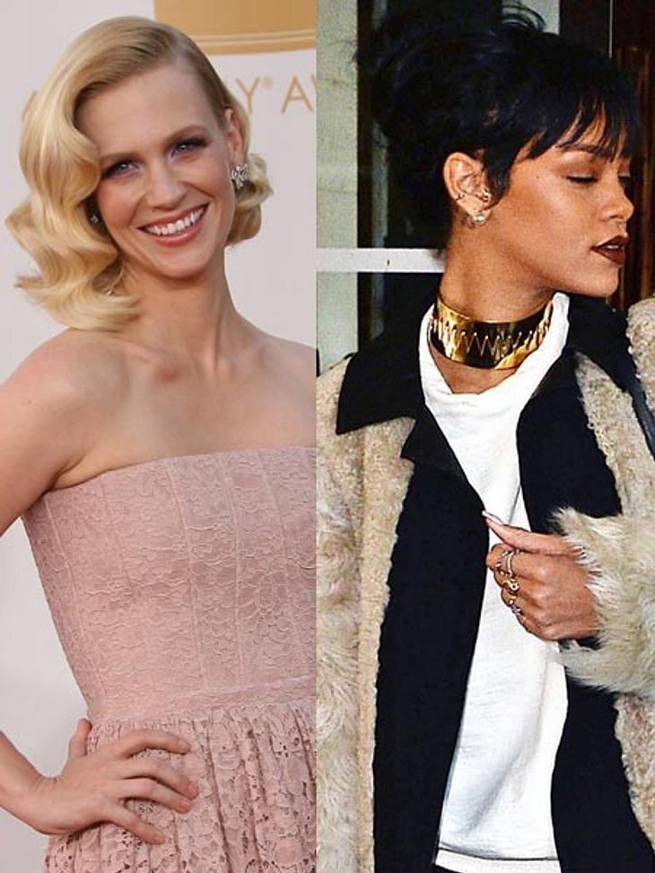 January Jones will mit Rihanna ins Bett!