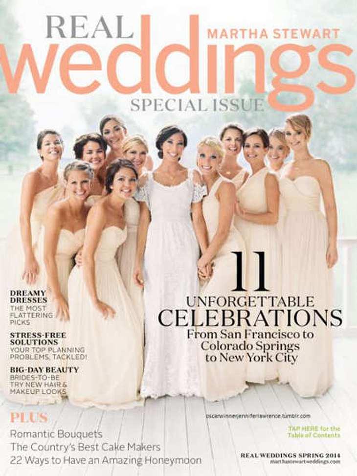 Jennifer Stewart (ganz rechts) als Brautjungfer auf der Hochzeit ihres Bruders Blaine.