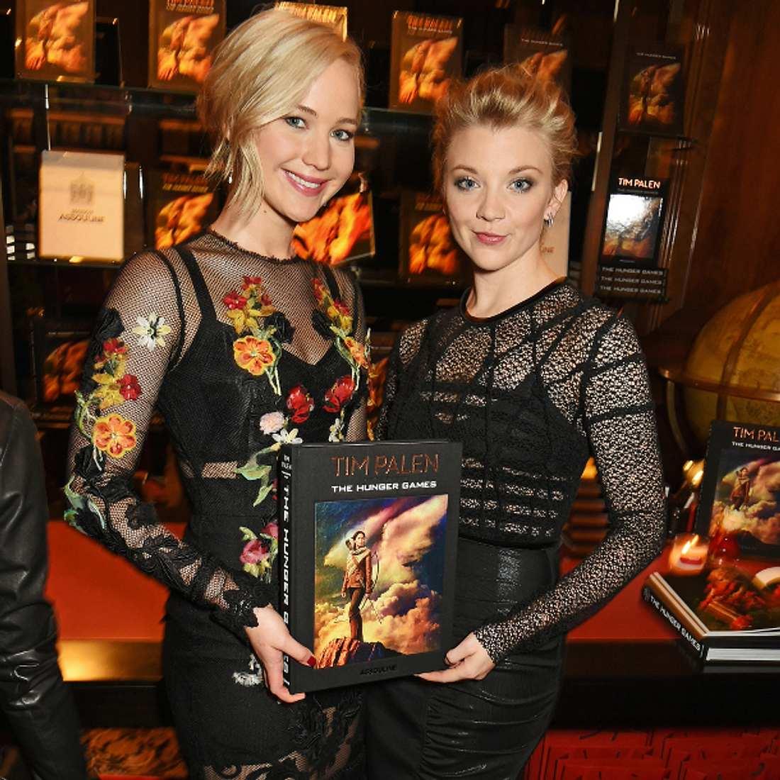 Jennifer Lawrence ging mit Natalie Dormer auf Tuchfühlung