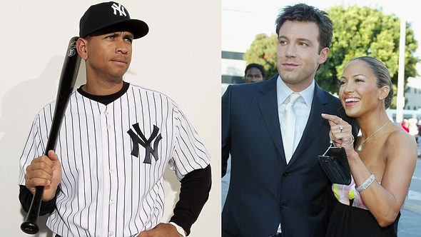 Alex Rodriguez, Ben Affleck, Jennifer Lopez - Foto: GettyImages